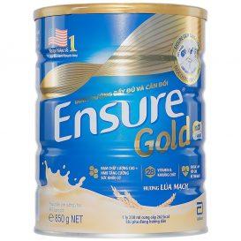 sua ensure gold 850g huong lua mach it ngot